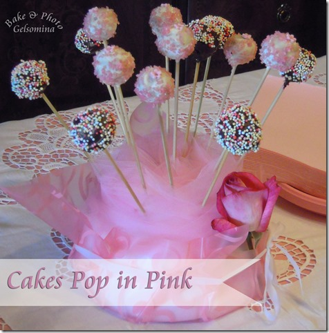 cakes pop in pink