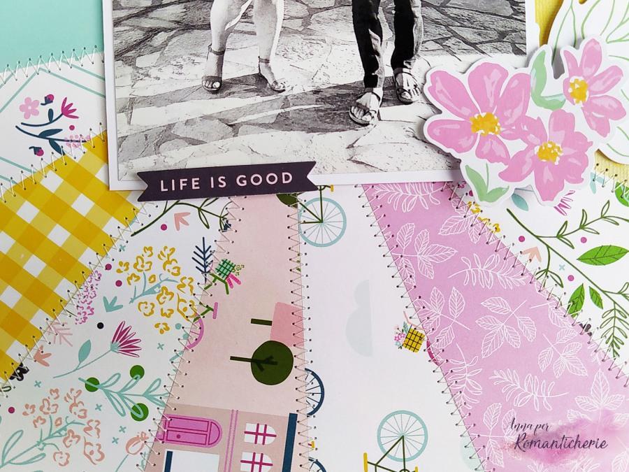 Layout Sunburst con le carte PinkFresh Studio